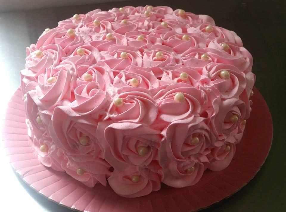 Smash the cake rosa