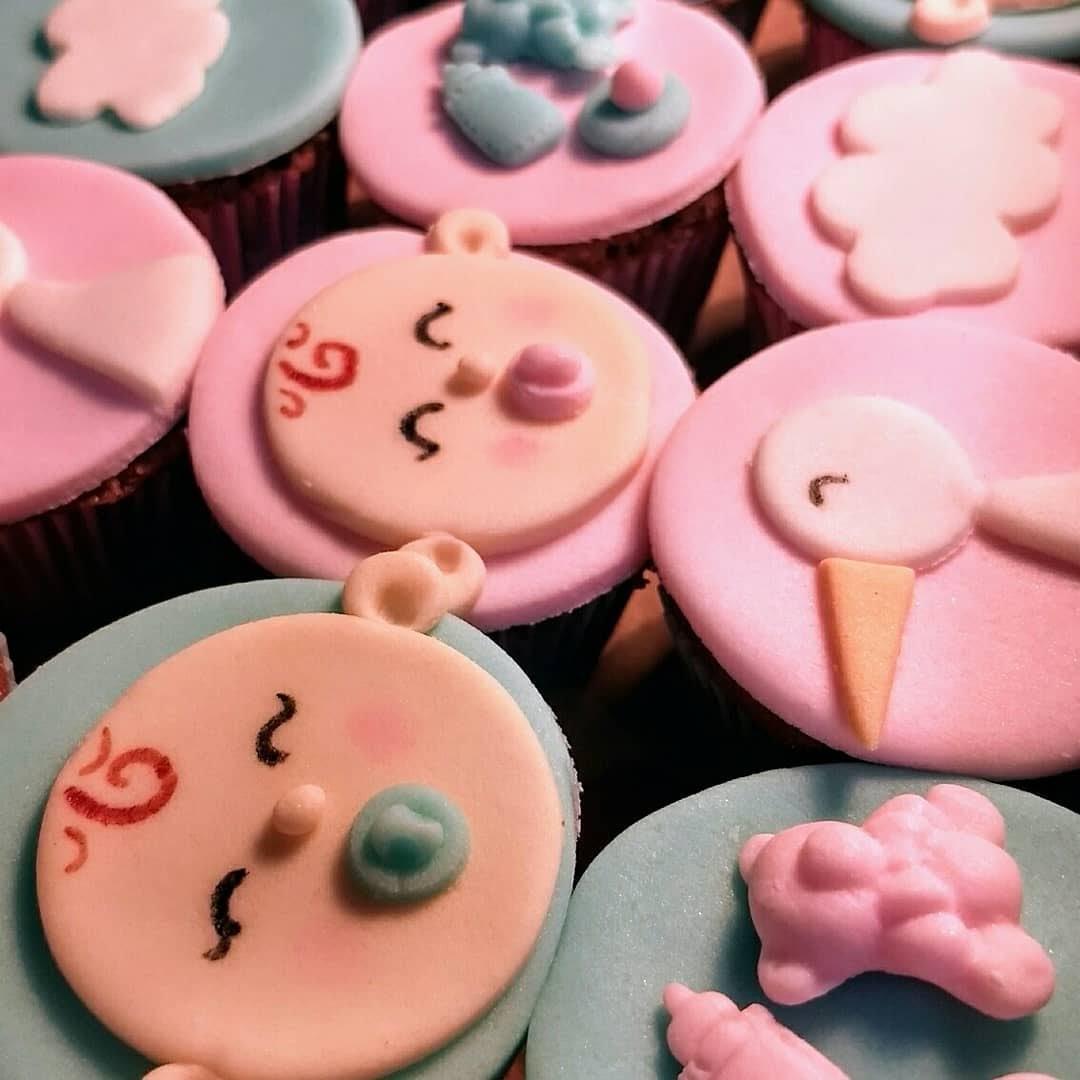 Mini cupcake chá de bebê