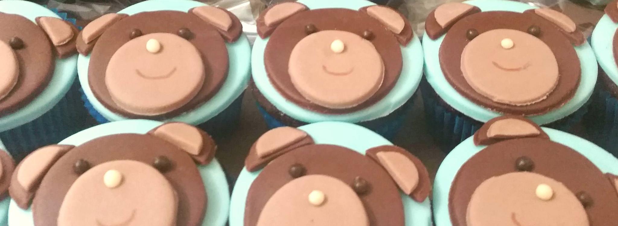 Mini cupcake Urso