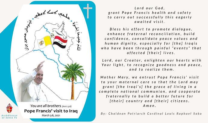 Pope's visit to Iraq Prayer Card.jpg