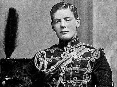 Winston Churchill in uniform of the Fourth Queen's Own Hussars, 1895