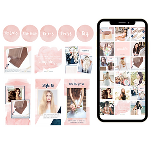 Barely Xtensions Instagram Mockup Templa