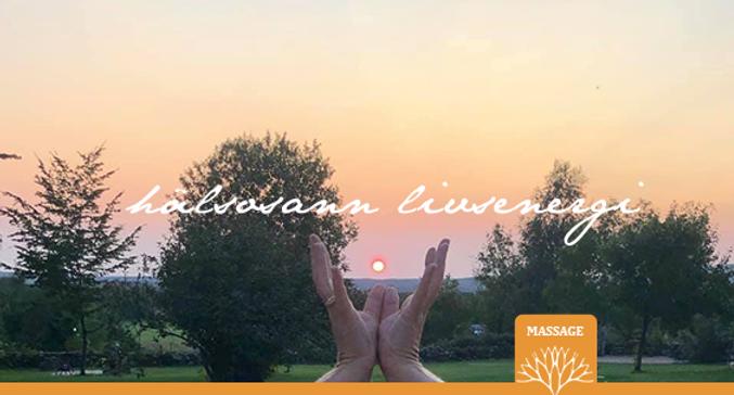 Massage med hälsosanna livsenergi