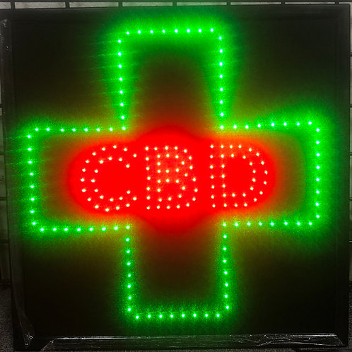 CBD LED sign for window