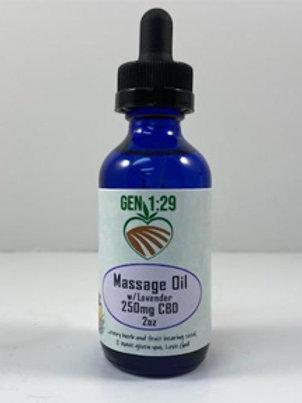 Gen129 Massage Oil - Lavender - 2oz -250mg