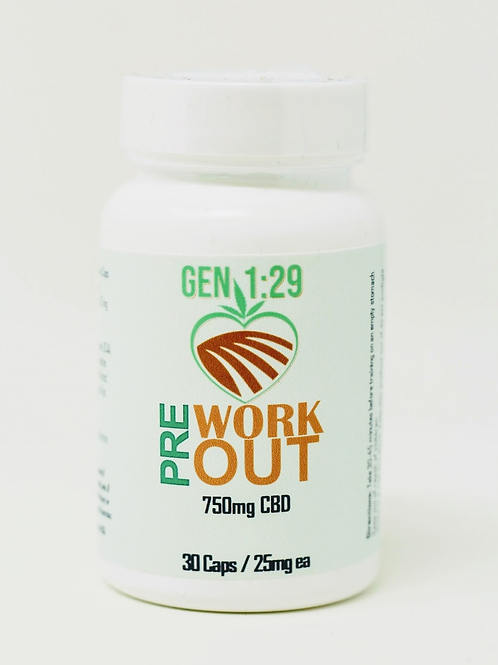 750 mg Pre Workout Iso Capsules