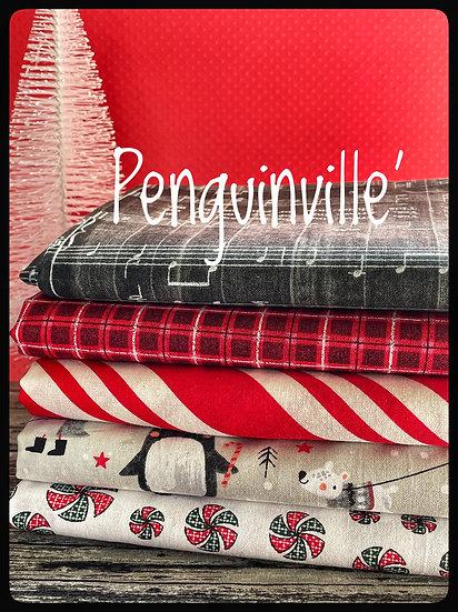 Penquinville' Christmas FQ bndle
