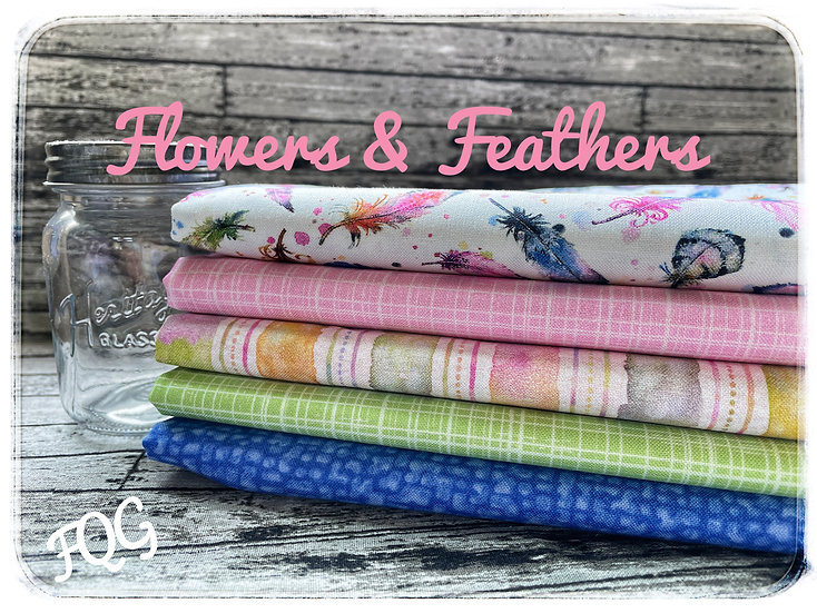 Flowers & Feathers by Siller than Sally FQ bundle