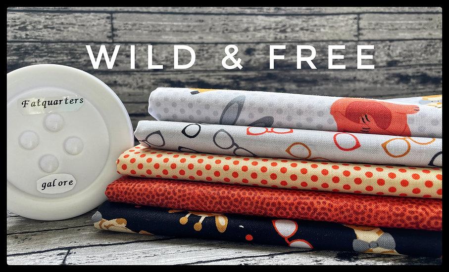 Wild & Free - Henry Glass Mini FQB