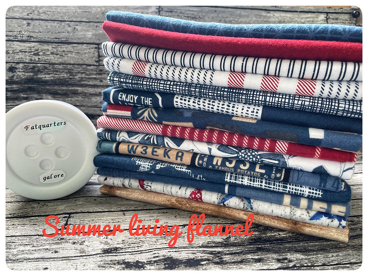 Summer Living Flannel collection