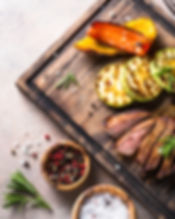 bigstock-Grilled-Beef-Steak-And-Grilled-