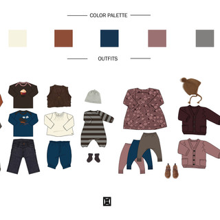 COLORS PALETTE & OUTFITS