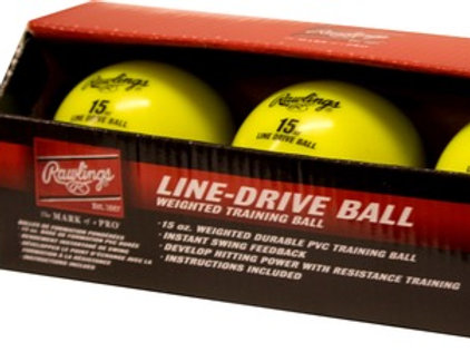 Rawlings Line-Drive Training Balls (3 pack)