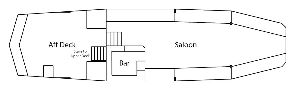 M.V Cockney Sparrow, Lower Deck Layout
