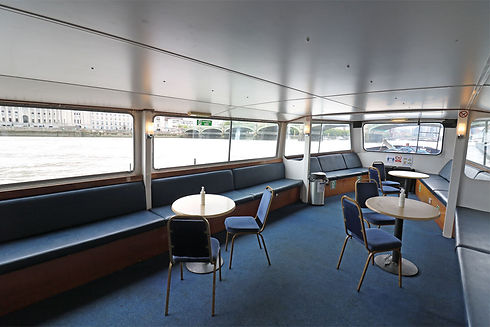 The saloon on M.V Cockney Sparrow