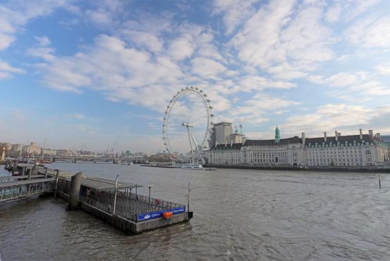 Westminster Pier & the London Eye
