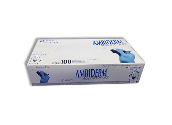 GUANTE DE NITRILO M AMBIDERM CAJA C/100