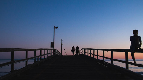 Couple on the Pier