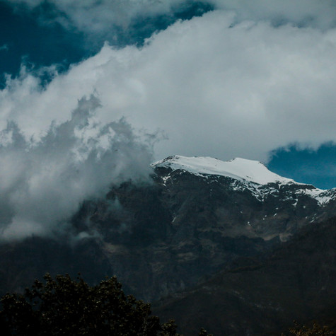 Clouds atop the Alps