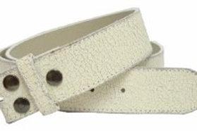 White distressed strap