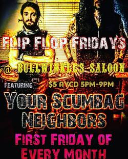 Flip Flop Fridays Bullwinkle's Saloon!