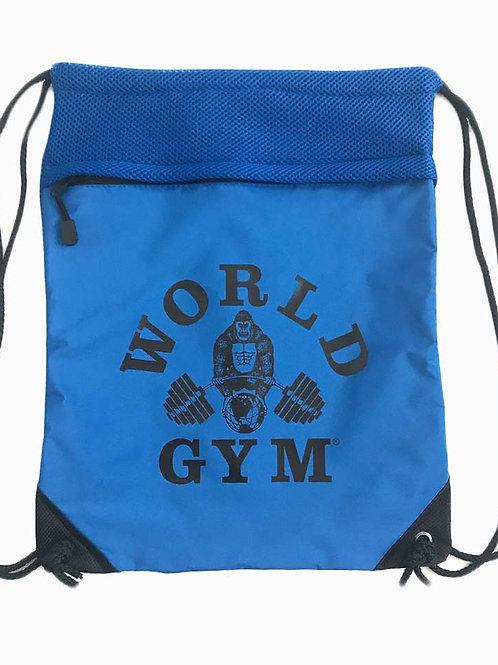 String Backpack w/ Mesh Trim