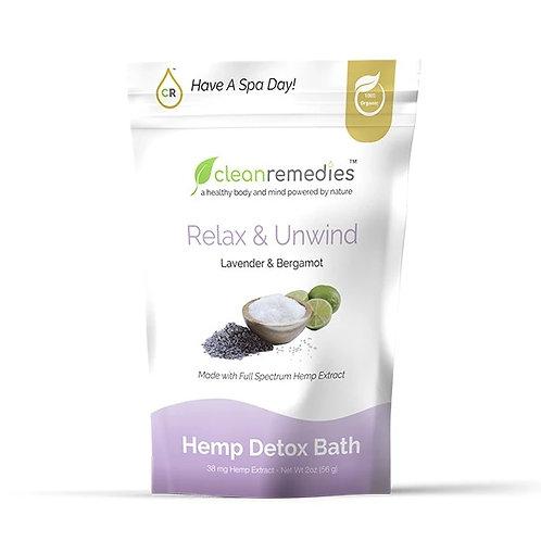 Detox Bath Salts - Lavender & Bergamot 38mg CBD (2oz)