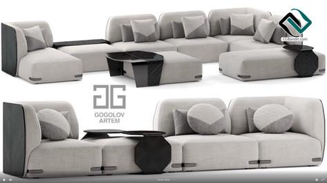 №103.Моделирование дивана U-2020 в 3d ma