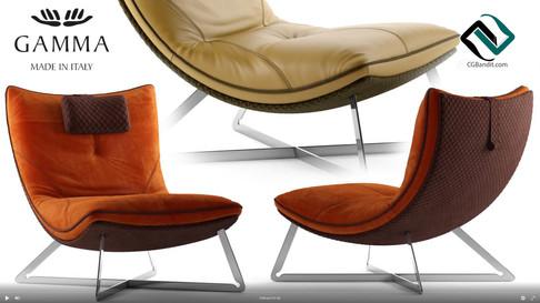 №168. Chair modeling  Gamma SCARLETT  Au