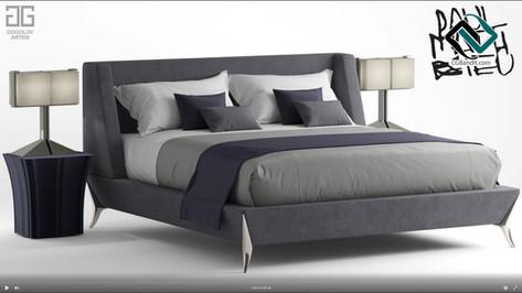 №74.Моделирование кровати Paul mathieu g