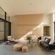 3D Visualization: MariaKim [ https://cgbandit.com/profile/MariaKim ] Reference: Dawnridge House by Field Architecture. House L-C / Graux & Baeyens Architects