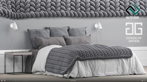 №57.Моделирование кровати в 3d max и mar