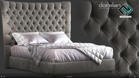 №171. Modeling Bed  DORELAN BRIGHTON  Au