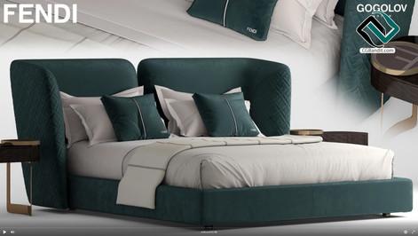 №186. Modeling Sofa  FENDI CEASAR  Autod