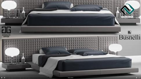 №86.Моделирование кровати  Busnelli VALE