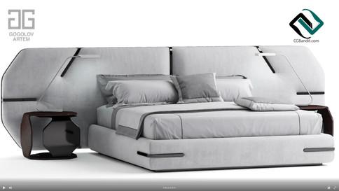 №104. Моделирование кровати Bed of my de