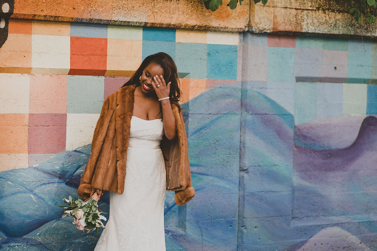 bride against graffiti