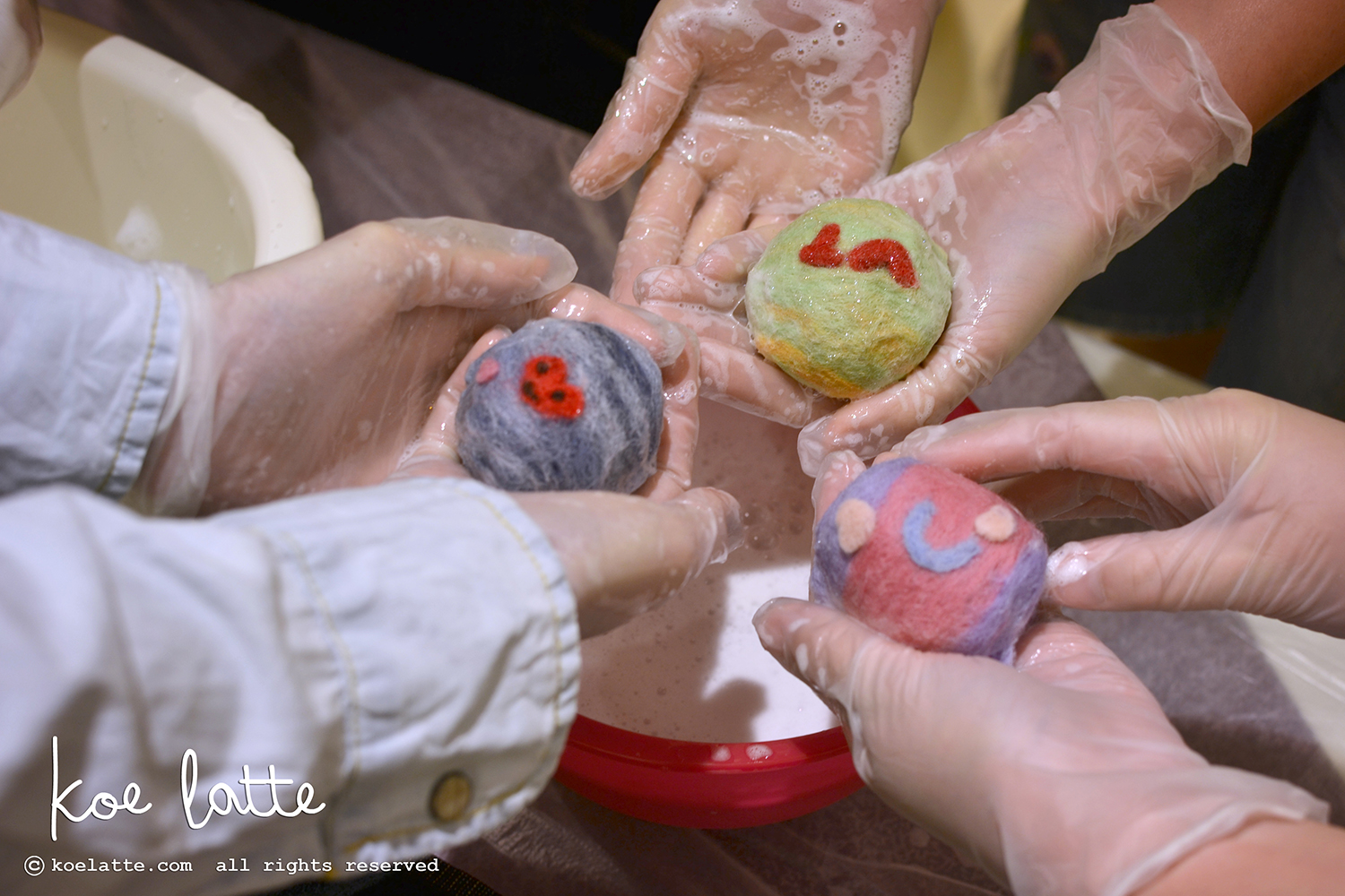 Felted Soap workshop@Lafayette
