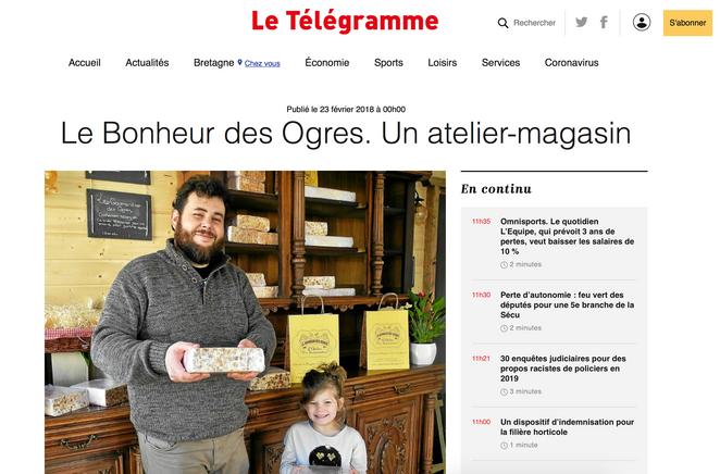 Le Bonheur des Ogres & Le Télégramme / 2018