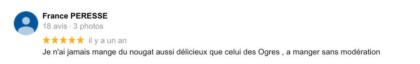 2019 Avis France Peresse sur Le Bonheur des Ogres, Nougatier artisanal à Quistinic (56310)