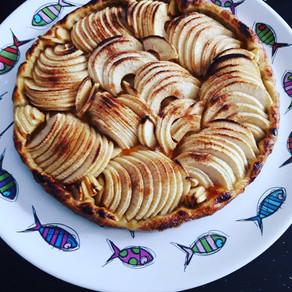 La tarte croustillante Pomme-Abricot de la CancAnnette