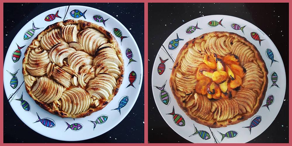 Tests de la Tarte croustillante Pomme - Abricot de la CancAnnette