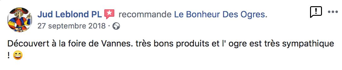 Avis de Jud Leblond PL sur Le Bonheur des Ogres, Nougatier artisanal à Quistinic (56310)