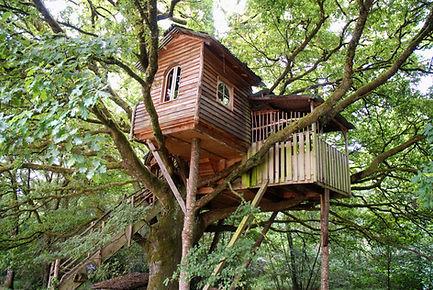 La Cabane de la Peyrade vue 1 La Ferme Histoires Melangees cabane bois insolite confort nature cabanes perchees Correze France