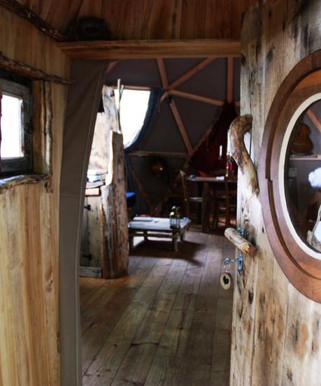 Cabane de la Séléné porte entrée