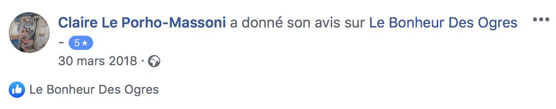 Avis de Claire Le Porho-Massoni sur Le Bonheur des Ogres, Nougatier artisanal à Quistinic (56310)