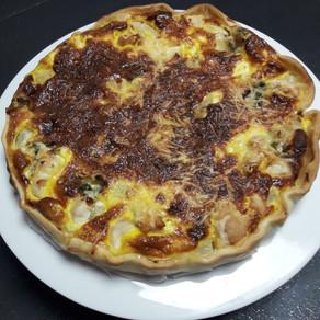 Tarte aux poires, poulet & Roquefort
