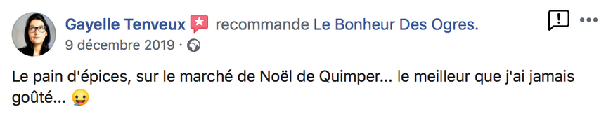 2019 Avis de Gayelle Tenveux sur Le Bonheur des Ogres, Nougatier artisanal à Quistinic (56310)