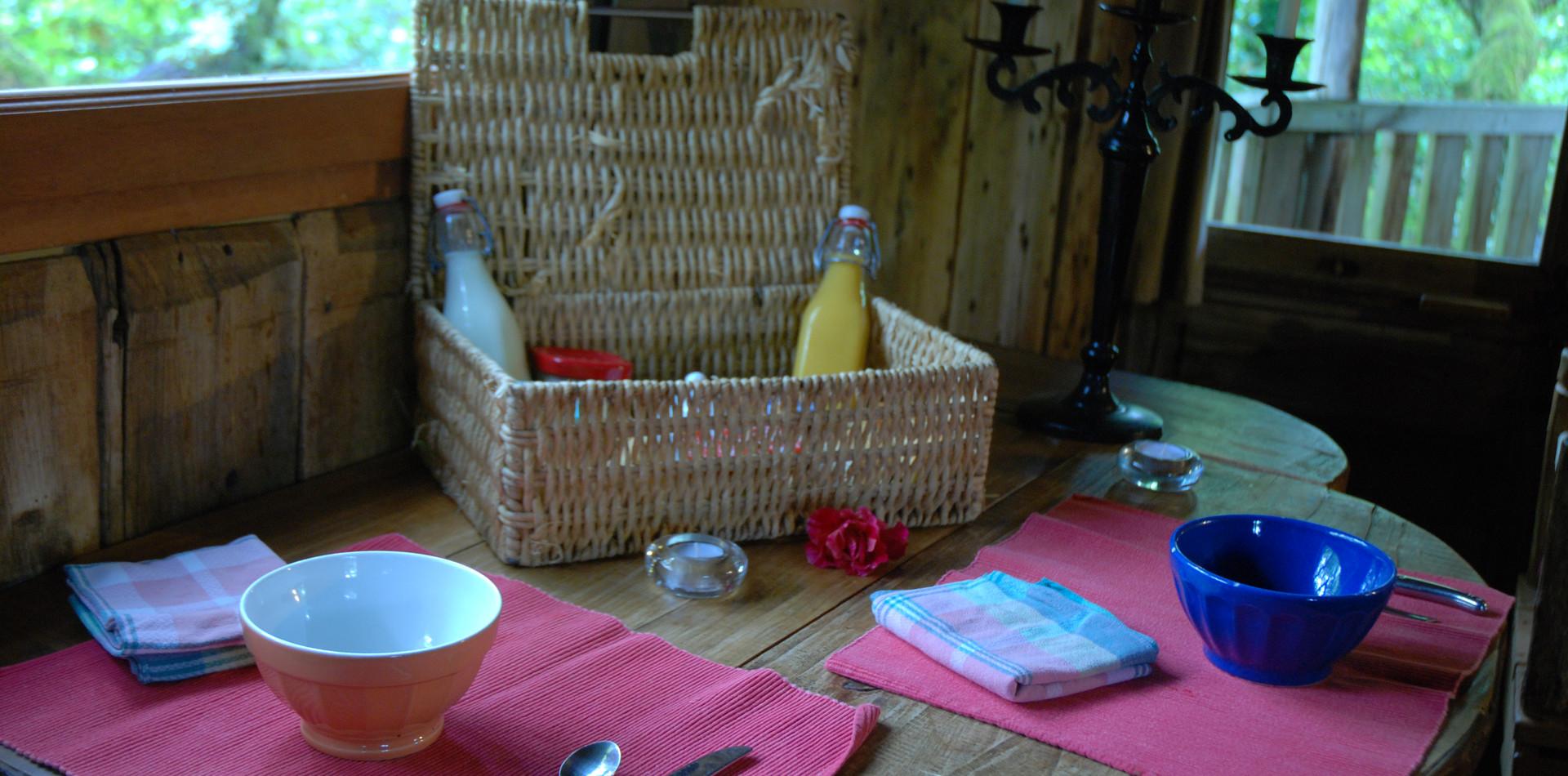 Cabane de la Peyrade petit déjeuner