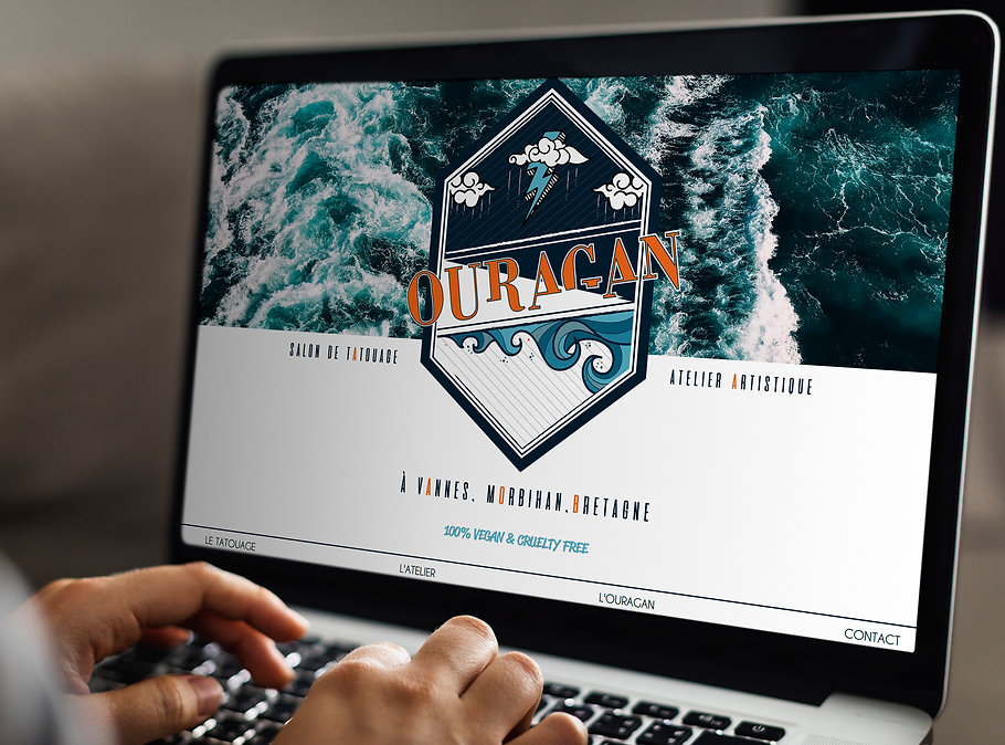 Site internet Ouragan Salon de Tatouage et Atelier Artistique Vannes